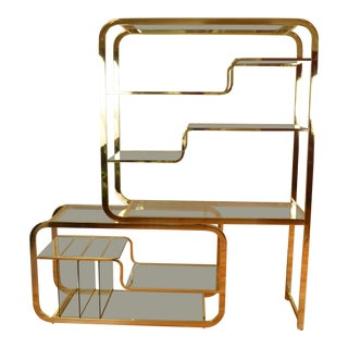 Milo Baughman for Dia Brass Etagere, Shelves, Shelving, Display