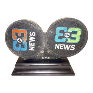 1950s Historic Sculptural Decorative Display Mitchell Motion Picture Tv News Film Mounted for Decor Display For Sale