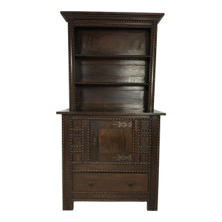19th C. English Oak Spool Cabinet