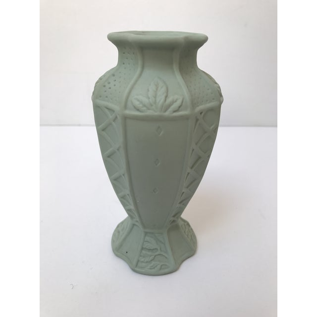 Fitz and Floyd Matte Green Candlestick Holder - Image 2 of 6