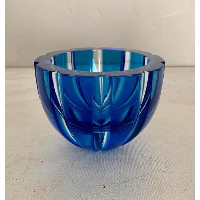 Early 21st Century Faberge Alexandra Modern Turquoise Crystal Votive For Sale - Image 5 of 5