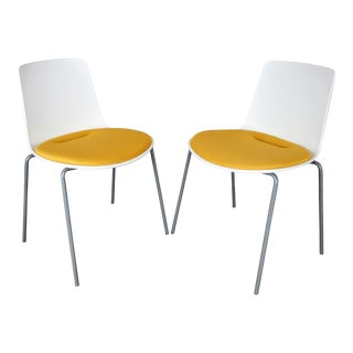 Modern Steelcase Coalesse Enea Lottus Sculpted Side Chairs- a Pair For Sale