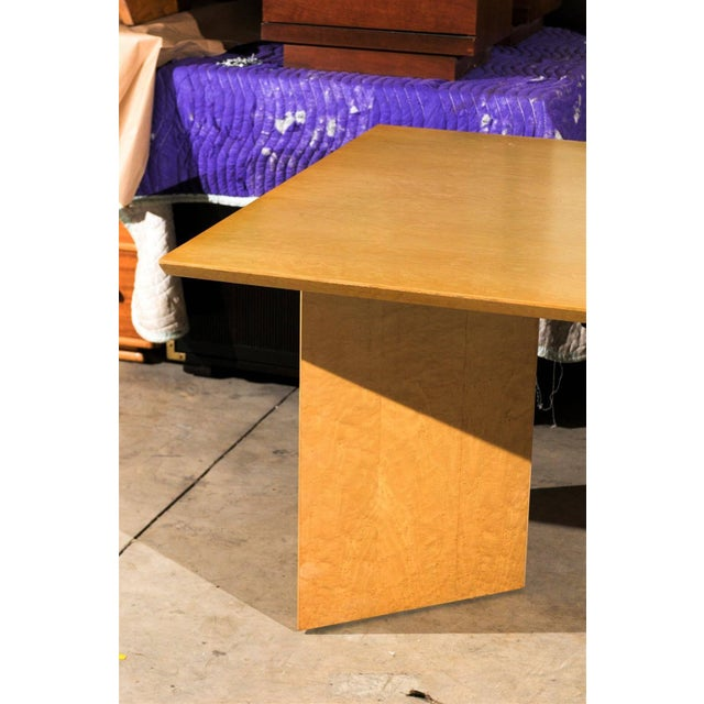 Wood Gorgeous Knife Edge Extension Dining or Conference Table in Bird's-Eye Maple For Sale - Image 7 of 11