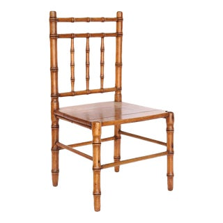 English Faux Bamboo Children's Chair For Sale