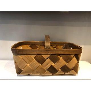 Vintage Handmade Veneer Basket Preview
