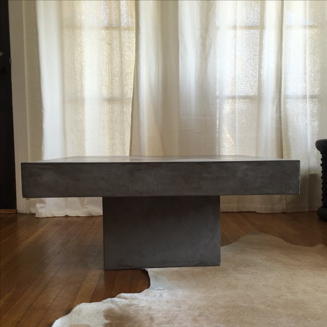 Cb2 Element Concrete Square Coffee Table Chairish