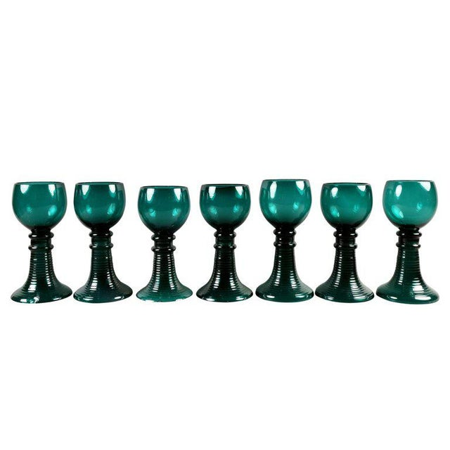 Traditional Collection of 61 Green Glasses For Sale - Image 3 of 10