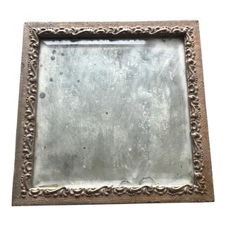 Antique Mirror in Wood & Gesso Gilt Frame For Sale