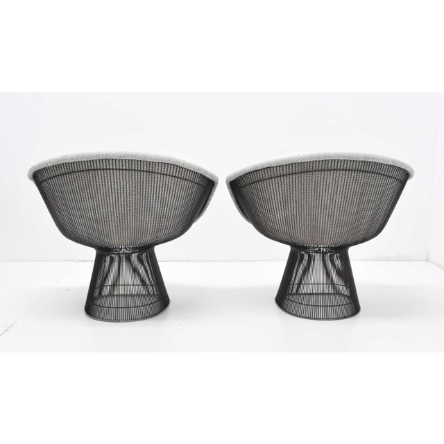 Pair of 1960s Bronze Warren Platner Lounge Chairs For Sale - Image 9 of 12