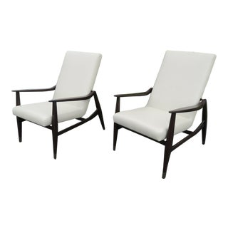 Mid Century Modern Style Lounge Sling Side Chairs- A Pair For Sale