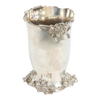 Early 20th Century Art Nouveau Silver Plated Cooler / Ice Bucket For Sale