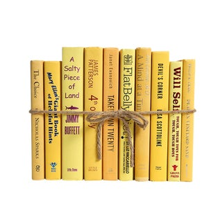 Modern Daffodil ColorPak - Decorative Books in Shades of Yellow For Sale