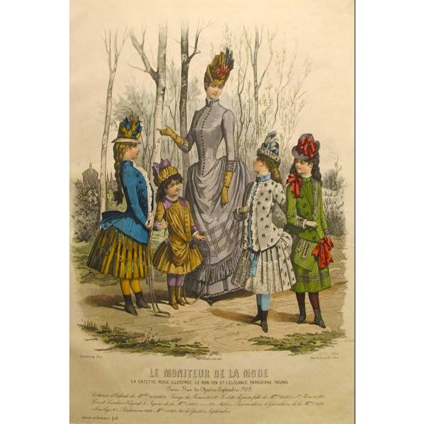 Illustration 1886 Moniteur De La Mode, Parisian Ladies Fashion (Plate 13-1886) For Sale - Image 3 of 3