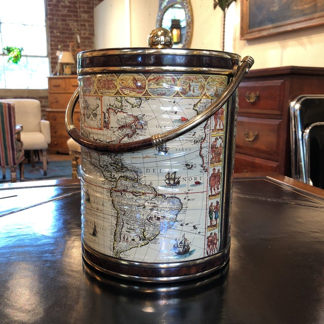 Mid-Century Map Ice Bucket - Image 5 of 11