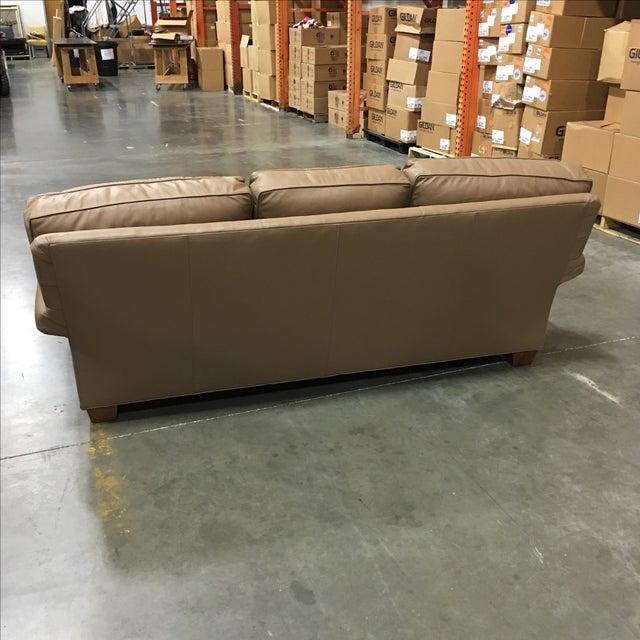 Leathercraft Tan Leather Sofa - Image 5 of 6