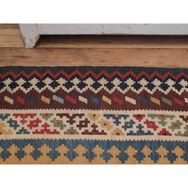 Antique Qashqai Kilim For Sale In New York - Image 6 of 7