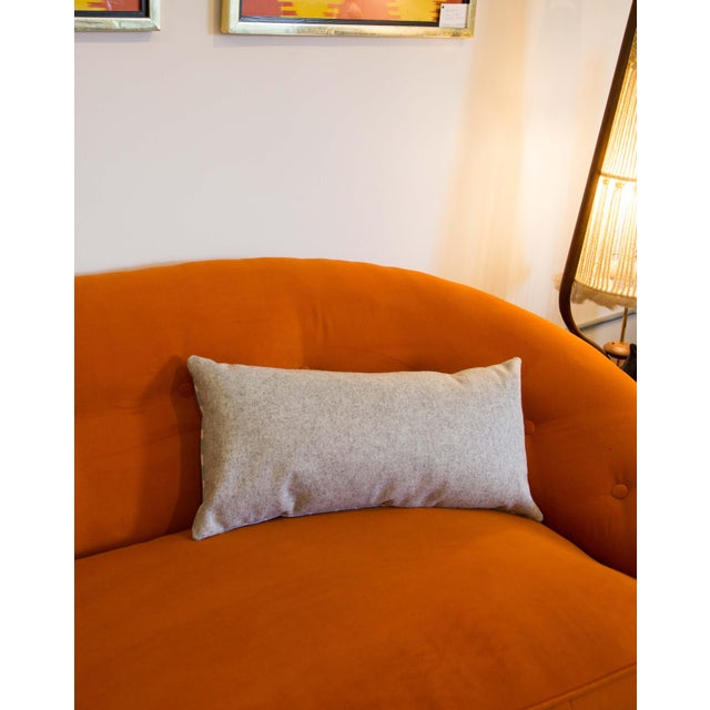 Half Moon Patterned Blue Lumbar Pillow For Sale In Raleigh - Image 6 of 8