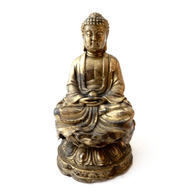 Brass Meditating Serenity Calming Buddha - Image 5 of 7