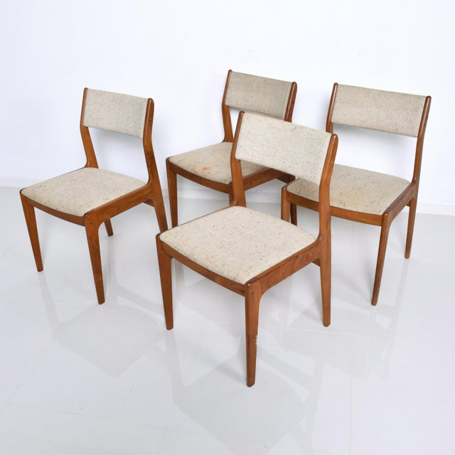 Benny Linden Mid-Century Danish Modern Teak Dining Chairs - Set of 4 For Sale - Image 11 of 11