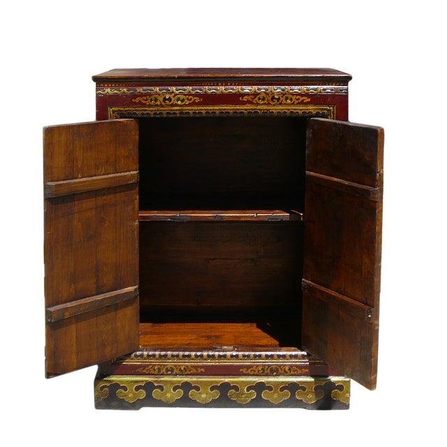 Chinese Tibetan Garuda Dragon Accent Table Cabinet - Image 4 of 4