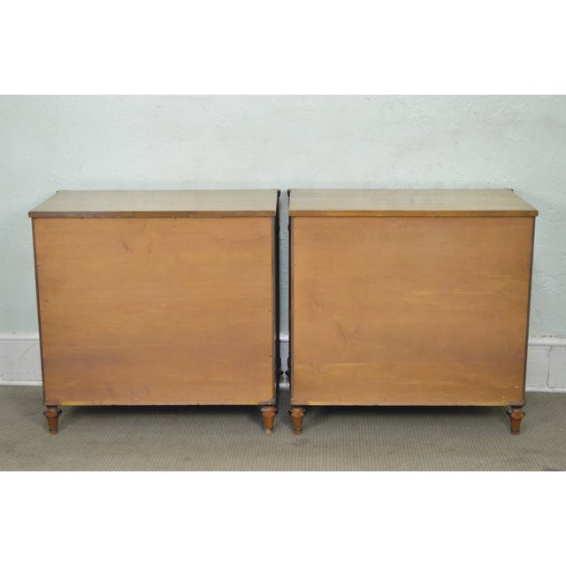 Kittinger Kittinger Regency Style Pair of Satin Wood Chests of Drawers For Sale - Image 4 of 13