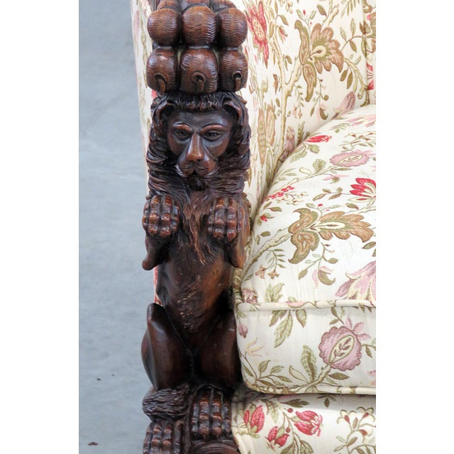 Carved Victorian Bergere For Sale - Image 4 of 11