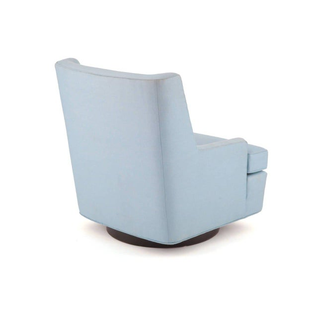 Wood Edward Wormley Dunbar Lounge Chair and Ottoman For Sale - Image 7 of 8