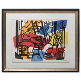 """Image of Lithograph Print, After Fernand Leger, From """"The Construction Worker"""" Series For Sale"""