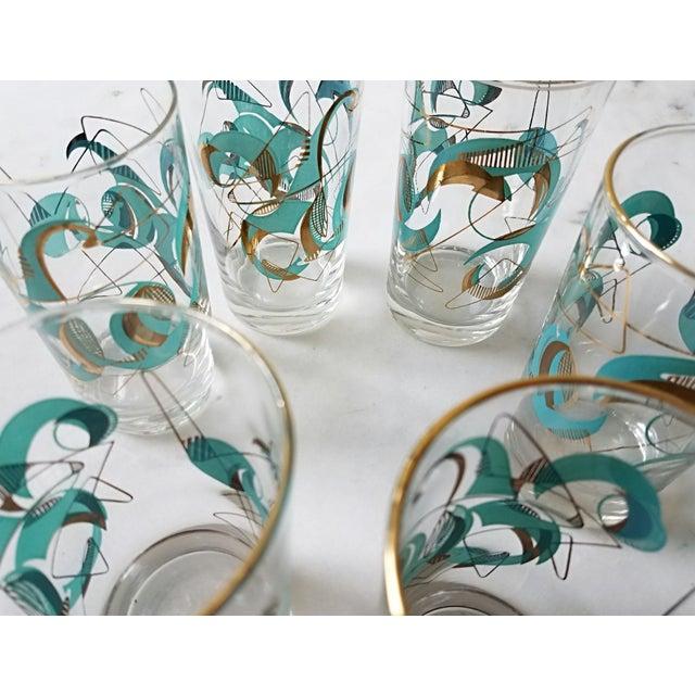 Mid Century Atomic Glasses - Set of 6 - Image 4 of 9