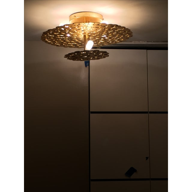 Gold Coin 2 Tiered Ceiling Light - Image 4 of 7