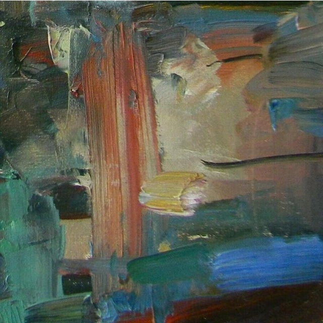 Expressionism Jose Trujillo Abstract Impressionism Modern Marsh Coa Fauvism Oil Painting For Sale - Image 3 of 5