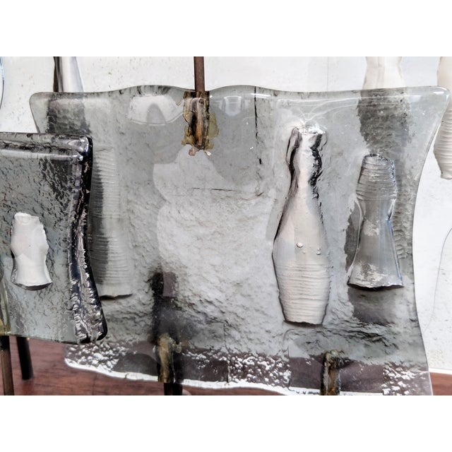 Higgins Style Studio Art Glass Sculpture on Wood Base - Image 10 of 11