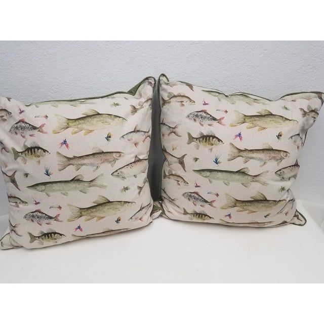 Fish Pillows, Made in Wales - a Pair For Sale - Image 10 of 10