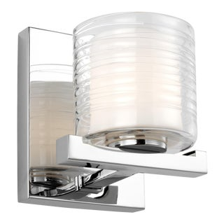 Transitional Chrome 1 - Light Wall Sconce Steel For Sale