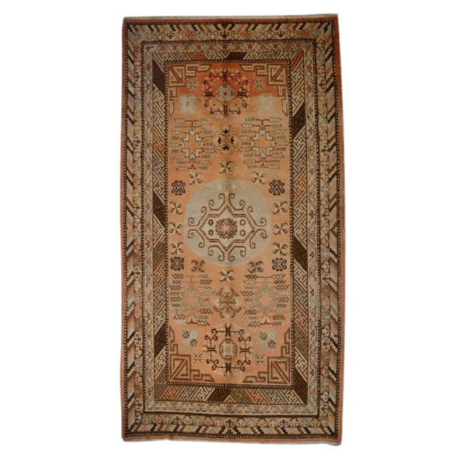Early 20th Century Central Asian Samarghand Carpet - 4′8″ × 8′9″ For Sale