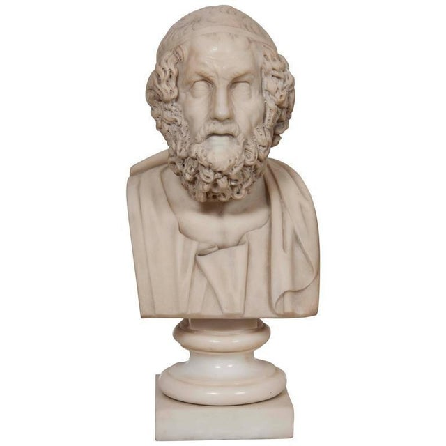 Marble Bust of Homer For Sale - Image 11 of 11