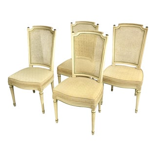 Henredon Cane Back French Regency Louis XVI Dining Chairs - Set of 4