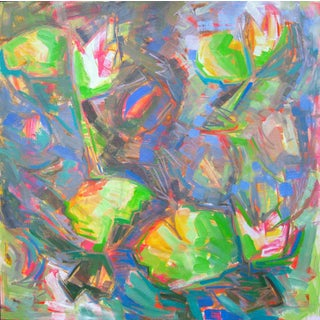 """Abstract Oil Painting by Trixie Pitts """"Water Lilies"""""""