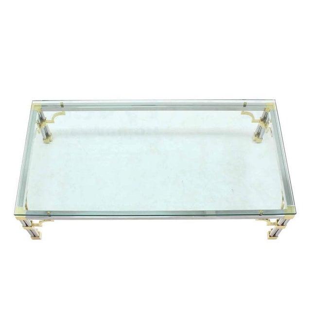 "3/4"" rectangular multi media Mid-Century Modern coffee table."