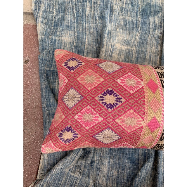 Tribal Antique Tribal Double Happiness Wedding Quilt Pillow For Sale - Image 3 of 10