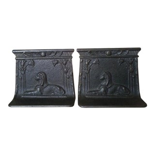 Vintage Egyptian Revival Art Deco Bookends - the Pair For Sale