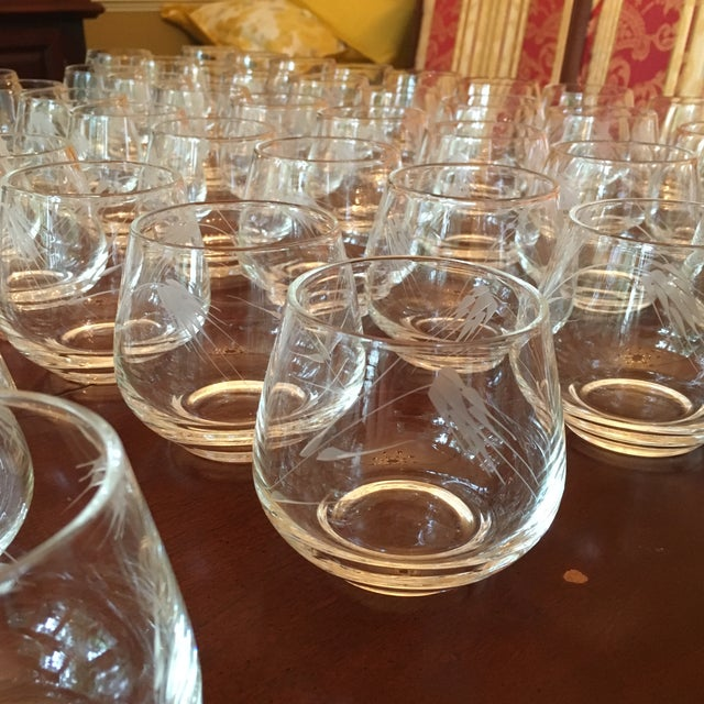 Ambassador to Italy's Crystal Punch Glasses & Bowl - Set of 73 For Sale In Cincinnati - Image 6 of 12
