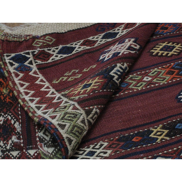 Textile Kagizman Kilim Runner For Sale - Image 7 of 9