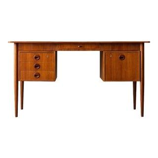 Danish Modern Teak Desk For Sale