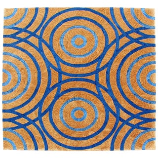 Contemporary Modernist Wool Area Rug Carpet Signed by Edward Fields C.1999 - 7′7″ × 8′1″ For Sale