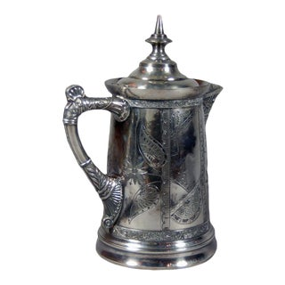 Rockford Silver Company Pitcher with Wedding Engraving For Sale
