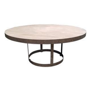 Contemporary Lillian August Grant Round Dining Table For Sale