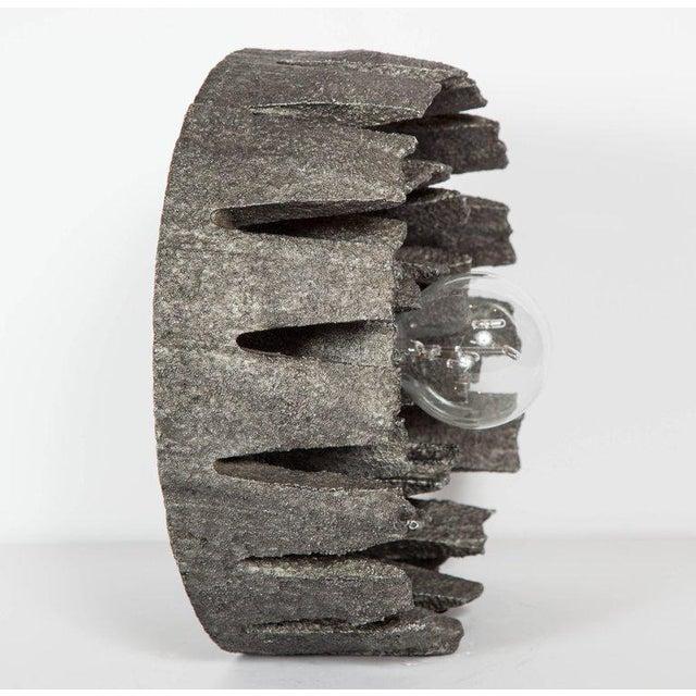 Metal 1960's Mid-Century Modern Brutalist Sculptural Lamp, Germany For Sale - Image 7 of 11
