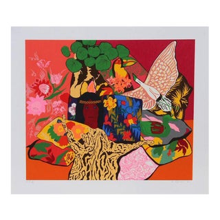 "Hunt Slonem, ""Pillow Jungle,"" Serigraph For Sale"