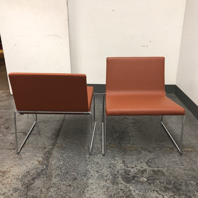 Andreu World Lineal Comfort Collection Side Chairs - A Pair - Image 6 of 7